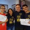 Santos, SP — Jovens igressam na Juventude Ecumênica da Boa Vontade de Deus, para cumprir uma nova etapa de sua missão na Relegião Divina.