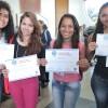 Graduandasde Biomedicina pela Universidade Paulista,de Brasília/DF, participaram do painel temático. Ao final do evento, elasreceberam o Certificado de Participação.