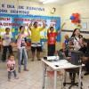 Brasilia, DF —Oficina musical convida as familias a dançarem e cantarem durante o 14° Fórum Internacional dos Soldadinhos de Deus, da LBV. É muito animação ealegria sem baixaria! =)