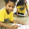 """Lauro de Freitas, BA — As crianças se divertiram muito pintando e desenhando sobre o tema """"Nossos deveres e direitos de Cidadãos Ecumênicos""""."""