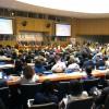 Nova York, EUA — Vista parcial do Plenário da ONU, que recebe — de 16 a 19 de julho — a Reunião de Alto Nível do Conselho Econômico e Social (Ecosoc). Autoridades internacionais e líderes de governos de todo o mundo estão debatendo como desenvolver sociedades sustentáveis e resilientes em áreas rurais ou urbanas.
