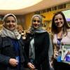 Da esquerda à direita: dra. Hala Al-Tuwaijri, secretária-geral do Conselho para Assuntos da Família da Arábia Saudita; dra. Lana bin Saeed, chefe do Comitê de Mulheres do Conselho para Assuntos da Família da Arábia Saudita; e Sâmara Malaman, da LBV.