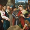 "The Woman Caught in Adultery (The Gospel according to John 8:1-11). The accusation of adultery levelled against a woman was extremely arbitrary. Any small slip in the rigid codes of social reclusion, which became even more intolerant if the young woman was engaged to be married, could cost her life. This is not to mention that they were harassed in a much more incisive way than today (although this is still unacceptable, regardless of the intensity of the violence, whether by words, insinuation or abusive action) and men did not suffer consequences to same degree. In the moral force of the statement ""Let any one of you who is without sin be the first to throw a stone at her"" (8:7), Jesus saved that woman from a public stoning. Then Christ offered her a valuable lesson for her material and spiritual life: ""Go now and leave your life of sin"" (8:11)."