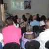 Vitória, ES —Público acompanha atentamente as palavras do dirigente das Instituições da Boa Vontade, sobre o Apocalipse de Jesus.