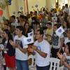 Recife, PE — Jovens ecumênicos de Boa Vontade de Deus recebem com carinho a mensagem ecumênica do presidente-pregador da Religião Divina, José de Paiva Netto.