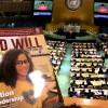 Revista BOA VONTADE Mulher, em inglês, entregue aos participantes da62ª Sessão da Comissão sobre a Situação da Mulher (CSW)