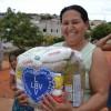 Berilo, MG - Milhares de famílias foram beneficiadas pela Campanha Diga Sim, da LBV. A família da senhora Rita Modesto foi uma das contempladas.
