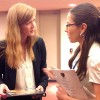 NEW YORK, USA – The U.S. Ambassador to the United Nations, Samantha Power (L), talks to Mariana Tamasan, from the LBV.
