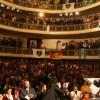 Paiva Netto discursa no palco da Casa da Cultura gaúcha, que estava superlotada, após a Orquestra de Câmara do Theatro São Pedro e o Coral Ecumênico Boa Vontade interpretarem, no Theatro São Pedro, em Porto Alegre/RS, suas composições em homenagem aos seus 50 anos de trabalho na LBV,em20 de junho de 2006.