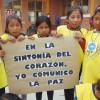 """La Paz, Bolivia — Actividad de rompecabezas, con el tema """"En la sintonía del corazón, yo comunico la Paz""""."""