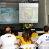 Recife, PE —Com atenção, a garotada e as famílias presentes na Igreja Ecumênica da Religião do Amor Fraterno acompanham as palavras do Irmão Paiva Netto. Na foto, vista parcial do público presente.