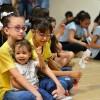 Goiânia, GO — As crianças acompanharam a sessão solene do 17ª Fórum Internacional dos Soldadinhos de Deus, da LBV.