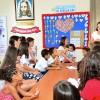 Belo Horizonte, MG — Crianças e suas famíliasparticiparam com as crianças da oficina