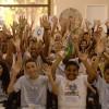 Rio de Janeiro, RJ — A alegria dos Soldadinhos de Deus, da LBV, e dos Cristãos do Novo Mandamento de Jesus, nas novas instalações da Igreja da Religião Divina de Bangu, e na expectativa para as palavras do Irmão Paiva. Na foto, vista parcial do público presente.