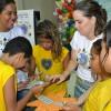 """Recife, PE —Na dinâmica """"Caça ao tesouro"""", os pequenos foram desafiados a encontrar mensagens de fortalecimento. Entre elas estavam a Prece e o Evangelho de Jesus."""