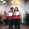 RIO DE JANEIRO, RJ —As Jovens Legionárias Thamiris e Beatriz Luize também participaram do Festival Internacional de Música, da LBV.