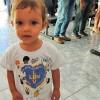 Americana, SP —A Soldadinho de Deus Manuela Tavares de Luca, de 1 ano e 4 meses, tambémparticipaçouda solenidade de aberturado 14º Fórum Internacional dos Soldadinhos de Deus, da LBV.