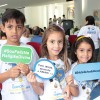 Porto Alegre, RS —Crianças bradam a amizade e respeito às diferenças durante atividades do 14º Fórum Internacional dos Soldadinhos de Deus, da LBV.