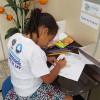 """Belford Roxo, RJ —Na atividade """"Cartas para o Futuro"""", a equipe das Aulas de Moral Ecumênica irá guardar, até 2021, os textos que registram as expectativas dos pequenos para um mundo de Paz."""