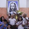 Nova Iguaçu, RJ– Durante o encontro, a família Alves Pereirarecebe homenagem da Religião de Deus, do Cristo e do Espírito Santo.