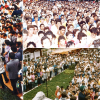 Pictures of the inauguration of the Jesus Super Day Care Center in the city of São Paulo (Brazil) on January 25, 1986: a crowd fills the place during a speech made by the LBV leader.