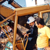 Aboard a tractor, Paiva Netto begins the construction of the Legion of Good Will's Educational Center in Rio de Janeiro, in 1994. As was his custom, during his visits to the construction sites, he followed the development of the construction work in the usual step-by-step manner.