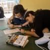 São Paulo, SP — Os jovens se reuniram em grupos para expressar sobre o tema do eventopor meio de desenhos, pinturas e poemas.