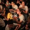 São Paulo, SP — Durante a mensagem fraterna no Fórum de todas as idades, jovens ecumênicos da Boa Vontade de Deus acompanham atentamente a pregaçãodo Irmão Paiva Netto.