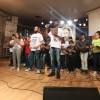 São Paulo, SP — Os jovens Taimara Paschoaletti Brito, de 24 anos; Júlio Cezar Machado de Araújo, 19 anos; e Danilo César Letie, 21 anos; proferem o Juramento de Fidelidade com a missão da Religião do Amor Universal.