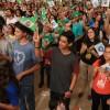São Paulo, SP — Com muito entusiasmo Legionário, jovens de todas as idades aguardam pelas palavras do Irmão Paiva Netto, proferidas durante o Jubileu de Prata do TBV, realizado em novembro de 2014.