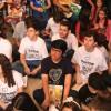 São Paulo, SP — Jovens Legionários assistem, atenciosos, à pregação histórica proferida por Paiva Netto, líder do Movimento Jovem da LBV, nas comemorações de 25 anos do Templo da Boa Vontade.