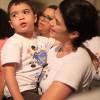São Paulo, SP —Com atenção, a garotada e as famílias presentes na Igreja Ecumênica da Religião do Amor Fraterno acompanham as palavras do Irmão Paiva Netto