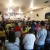 São Paulo, SP — Os Soldadinhos de Deus, da LBV, e suas famílias acompanham a abertura do 17º Fórum.