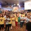 São Paulo, SP — Os Soldadinhos de Deus, da LBV, participaram do evento com muita alegria, dançando, cantando e contagiando a todos. =D