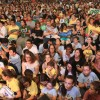 São Paulo, SP — O público acompanha com atenção as palavras do presidente-pregador da Religião Divina, José de Paiva Netto.
