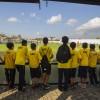 As crianças da LBV acompanharam a tarde dos jogadores no Centro de Treinamento do Corinthians