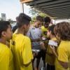 Pedrinho também recebeu com muito carinho e atenção as crianças