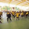 Mogi das Cruzes, SP — Para celebrar a entrega dos 500 cobertores, as crianças atendidas pela LBV se apresentaram com muita música e dançaurbana.