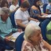 MARÍLIA, SP — Durante a Cruzada do Novo Mandamento de Jesus — Reunião em Homenagem ao Anjo da Guarda, os presentes fizeram a leitura da revista