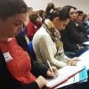 Porto, Portugal — Congressistas acompanham, com atenção, as palestras do 20º Congresso Internacional de Educação, promovido pela LBV.