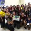 Uberlândia, MG — Nas Rodas Espirituais e Culturais, da LBV, público se diverte na oficina