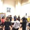 Brasília, DF — O sábado teve início com os jovens se reunindo no Auditório Tom Jobim, no ParlaMundi da LBV, realizando uma prece ecumênica para começar as atividades do 44º Fórum Internacional do Jovem Ecumênico da Boa Vontade de Deus.