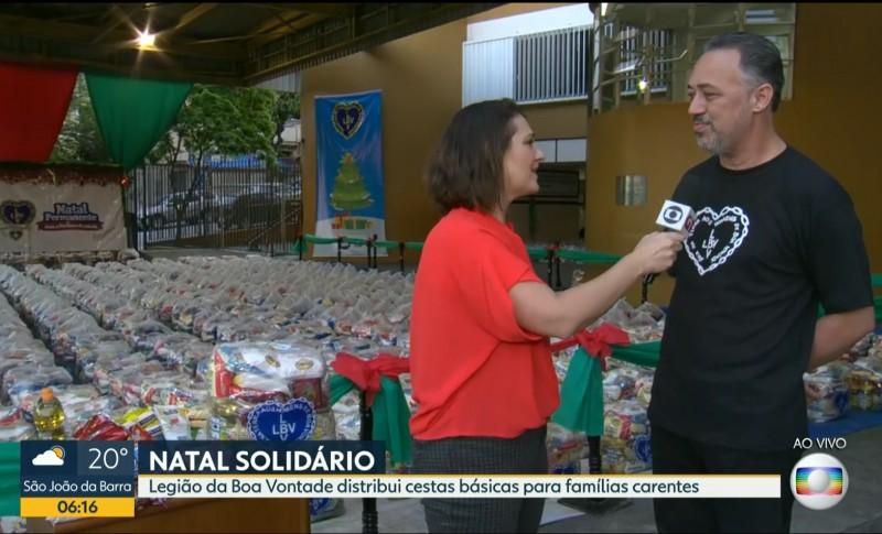 Bom Dia Rio E Rj1 Da Tv Globo Destacam Entrega Das Cestas