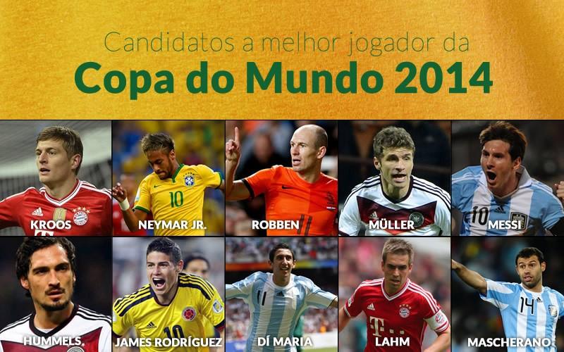 Fifa divulga lista de 10 nomes candidatos à craque da Copa ... f2bc3194cecc0