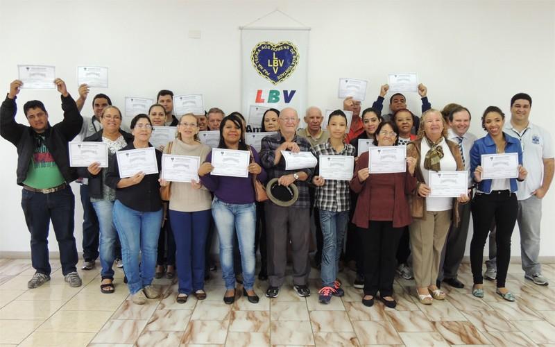 LBV promove cursos de capacitação profissional para jovens e