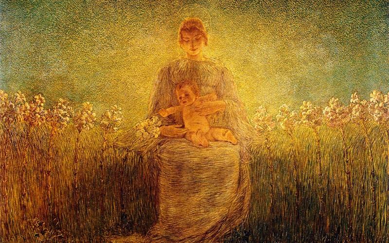 As crianças e a Mãe de Jesus  (Paiva Netto).