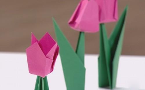 Artesanato Dos Estados Unidos ~ Aprenda a fazer uma flor de origami #DIY