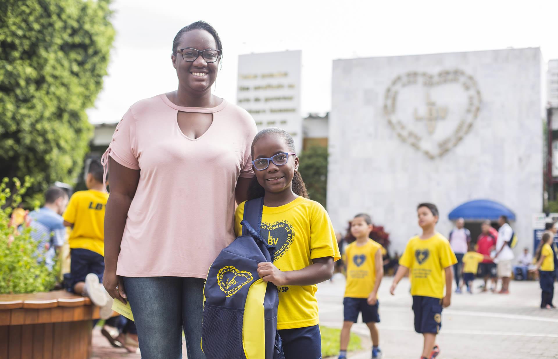 São Paulo, SP — Por intermédio dessa iniciativa, a LBV beneficia com kits de material pedagógico e conjuntos completos de uniformes crianças, adolescentes e jovens de famílias de baixa renda em todo o Brasil.