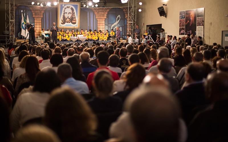 São Paulo, SP — vista parcial do público que participava do 36º Encontro Ecumênico dos Pais de Boa Vontade, no último sábado.